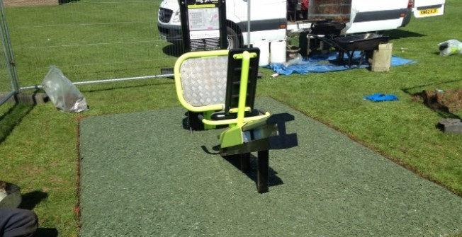 Outdoor Gym Equipment Flooring in Aberffraw