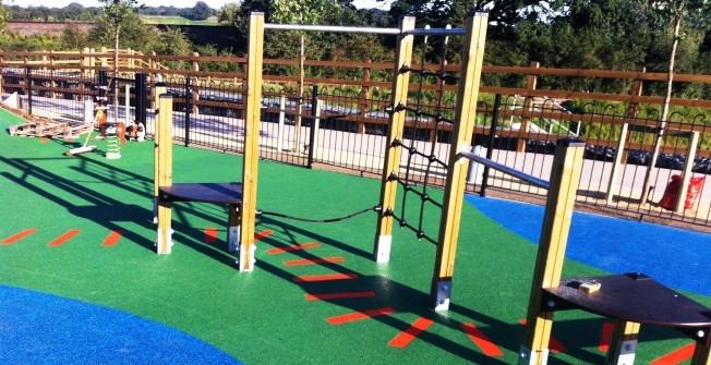 Outdoor Play Area in Aber-banc
